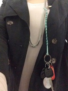 car keys attached via the Treatmesweetlie Pacifier Clip